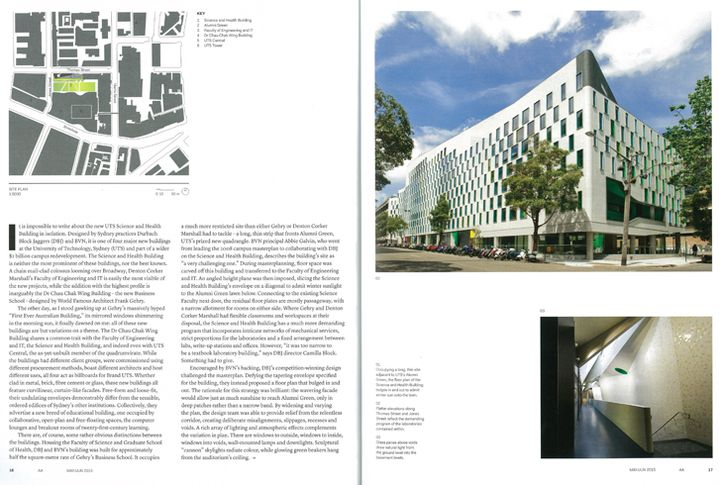 UTS Featured on Cover of Architecture Australia