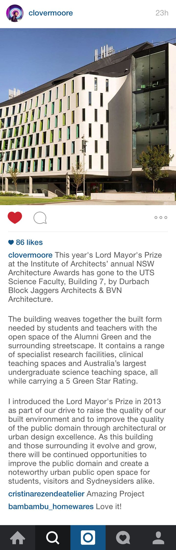Lord Mayor's Prize on Instagram