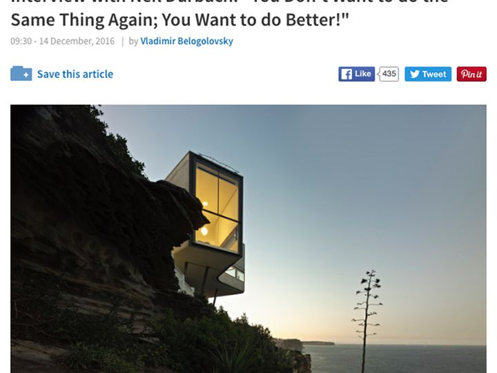 Neil Durbach Interview on Archdaily