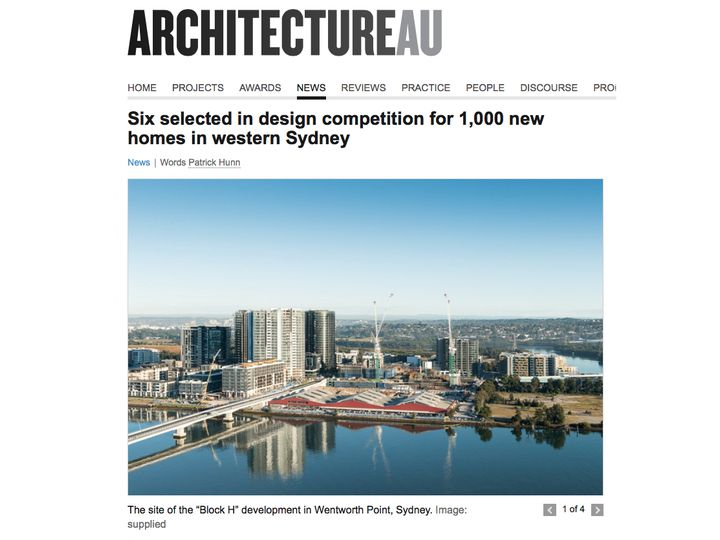Wentworth Point Block H Design Competition on ArchitectureAU